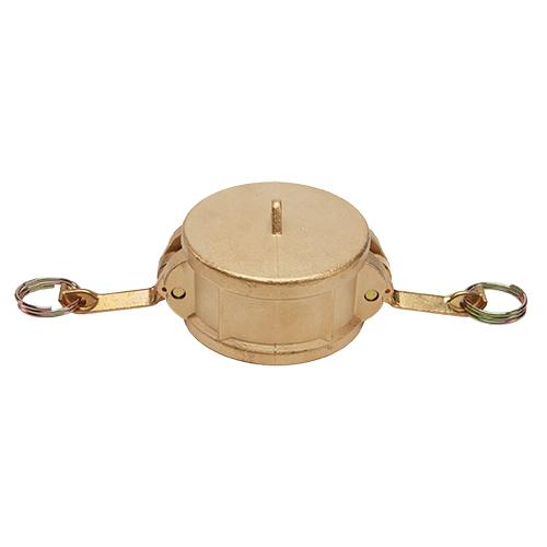 """Brass 4"""" Female Camlock Dust Cap (USA)"""