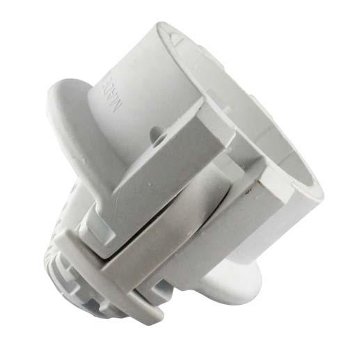 "White 4"" Food Grade Polypropylene Female Safety Bump Cap - DFG40FSB"
