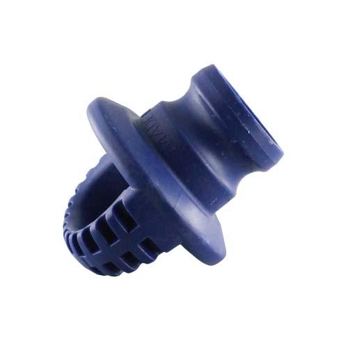 """Blue 3"""" Polypropylene Male Safety Bump Plug"""