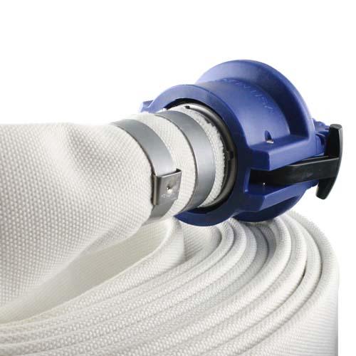 "Blue 4"" Polypropylene Female Safety Bump Cap - DP40FSB"