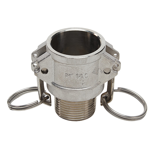 """Stainless Steel 1"""" Female Camlock x 1"""" Male NPT (USA)"""