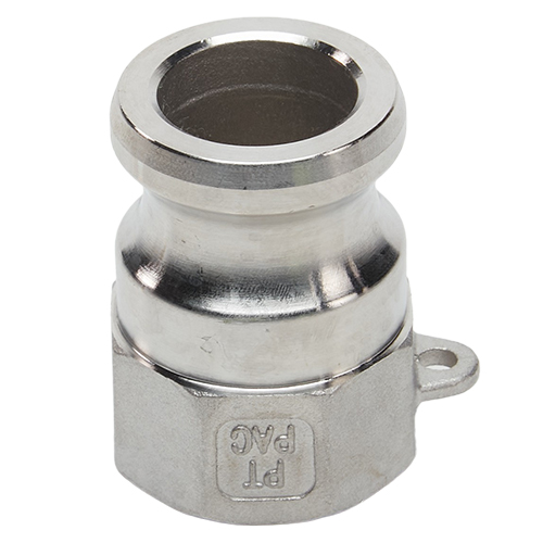 """Stainless Steel 1"""" Male Camlock x 1"""" Female NPT (USA)"""