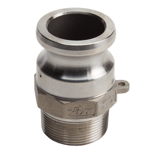 """Stainless Steel 1 1/2"""" Camlock Male x 1 1/2"""" NPT Male (USA)"""