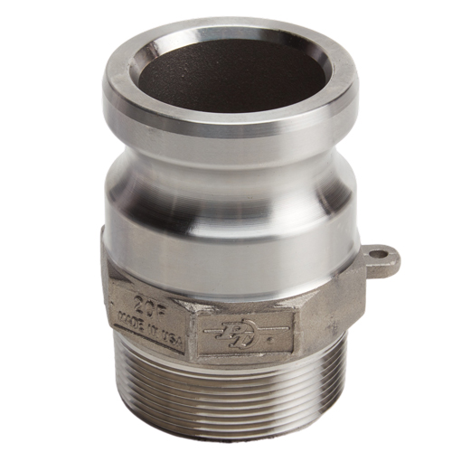 """Stainless Steel 2"""" Camlock Male x 2"""" NPT Male (USA)"""