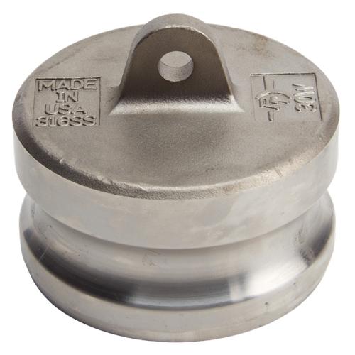 "Stainless Steel 3"" Camlock Male Dust Plug (USA)"