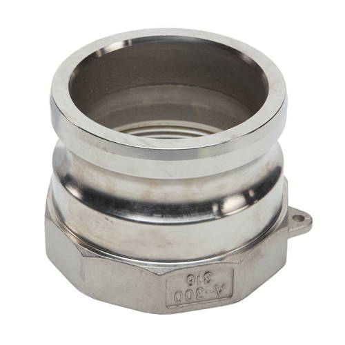 """Stainless Steel 3"""" Male Camlock x 2"""" Female NPT (USA)"""