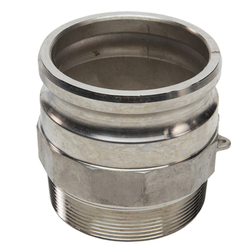 """Stainless Steel 4"""" Camlock Male x 4"""" NPT Male (USA)"""