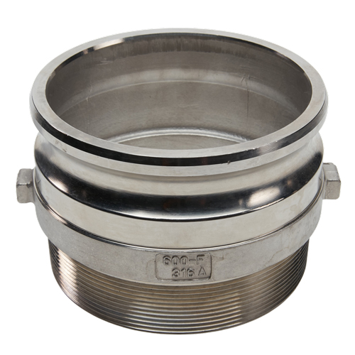 """Stainless Steel 6"""" Camlock Male x 6"""" NPT Male (USA)"""