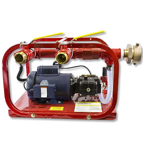 Two Outlet 3 GPM 500 PSI Electric Fire Hose Tester