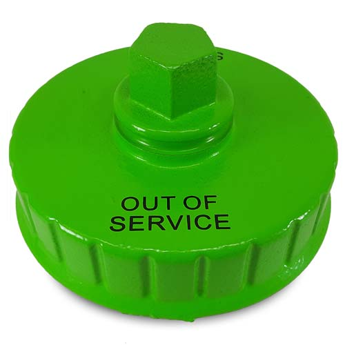 "Hi-Viz 4 1/2"" NH / NST Fire Hydrant Cap (Out of Service)"
