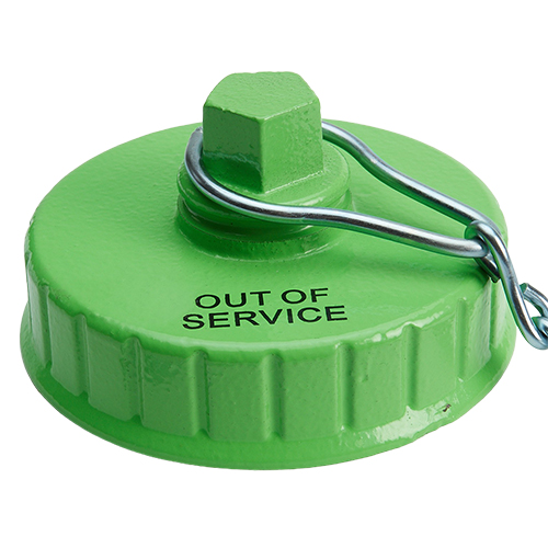 """Hi-Viz 4 1/2"""" NH / NST Fire Hydrant Cap (Out of Service)"""