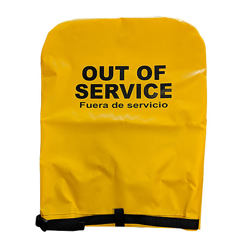 Yellow Hydrant Cover (Out of Service)