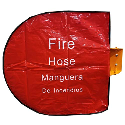 """Red 1 1/2"""" Fire Hose Storage Reel Cover (Bilingual)"""