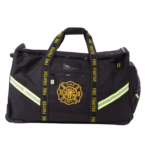 Flame Turnout Gear Bag; Luggage Style w/ Wheels
