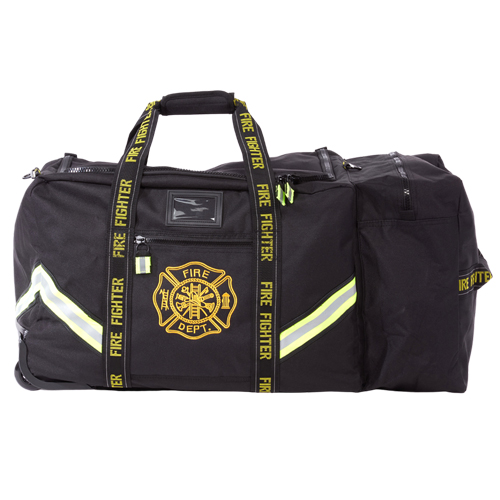 Flame Thin Red Line Rolling Firefighter Turnout Gear Bag