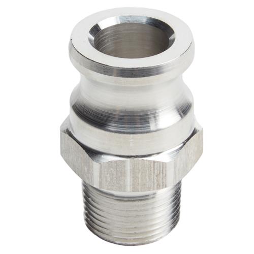 "Aluminum 3/4"" Male Camlock x 3/4"" Male NPT"
