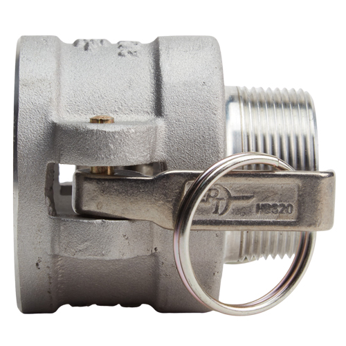 "Aluminum 2"" Female Camlock x 1 1/2"" Male NPT - GA20F15MN"