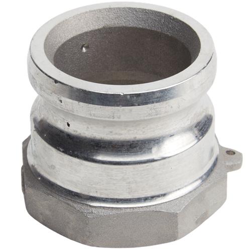 "Aluminum 2 1/2"" Male Camlock x 2 1/2"" Female NPT"