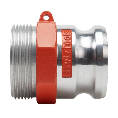 "Hi-Viz Aluminum 2 1/2"" Male Camlock x 2 1/2"" Male NH - GA25M25MNH"