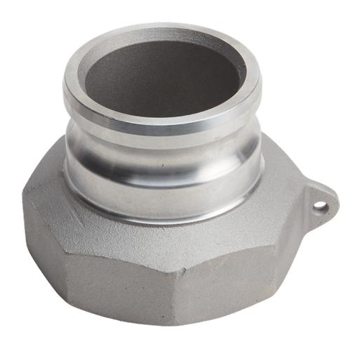 "Aluminum 3"" Male Camlock x 4"" Female NPT"