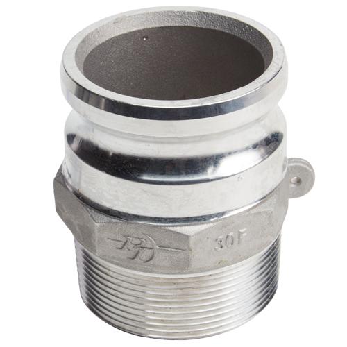 "Aluminum 3"" Male Camlock x 4"" Male NPT"