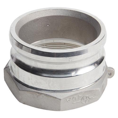 "Aluminum 4"" Male Camlock x 4"" Female NPT"