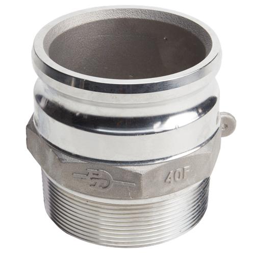 "Aluminum 4"" Male Camlock x 4"" Male NPT"