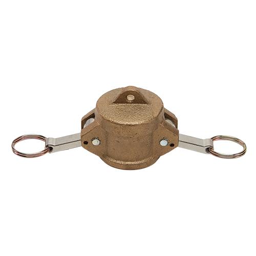 """Brass 1 1/4"""" Female Camlock Dust Cap"""