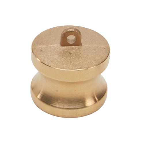 "Brass 1 1/4"" Male Camlock Dust Plug"