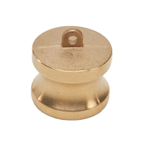 "Brass 1 1/2"" Male Camlock Dust Plug"