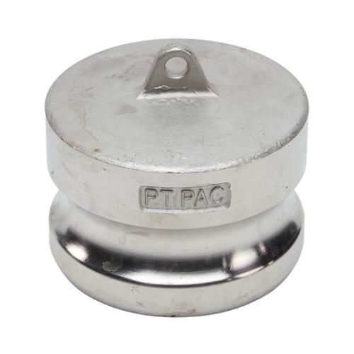 "Stainless Steel 2 1/2"" Camlock Male Dust Plug"