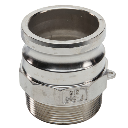 """Stainless Steel 3"""" Camlock Male x 3"""" NPT Male"""