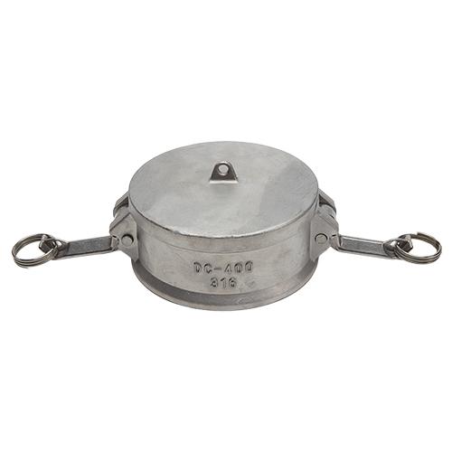 "Stainless Steel 4"" Camlock Female Dust Cap"