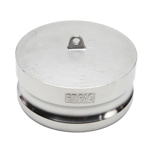 "Stainless Steel 4"" Camlock Male Dust Plug"