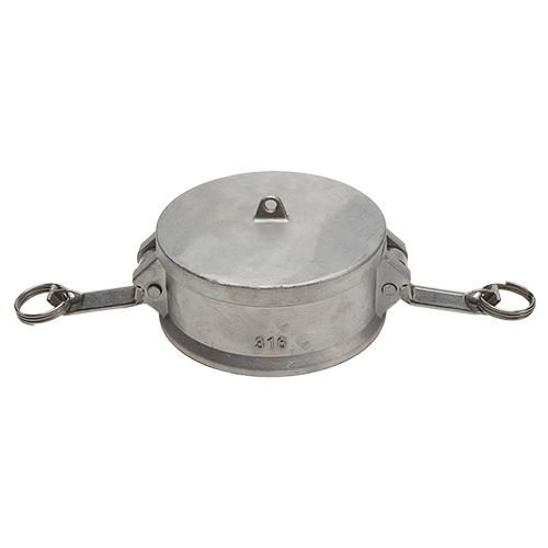 "Stainless Steel 6"" Camlock Dust Cap"