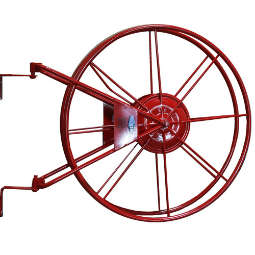 "Red 1 1/2"" Fire Hose Reel"