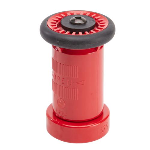 "Plastic 1 1/2"" Red Fire Nozzle (NPSH)"