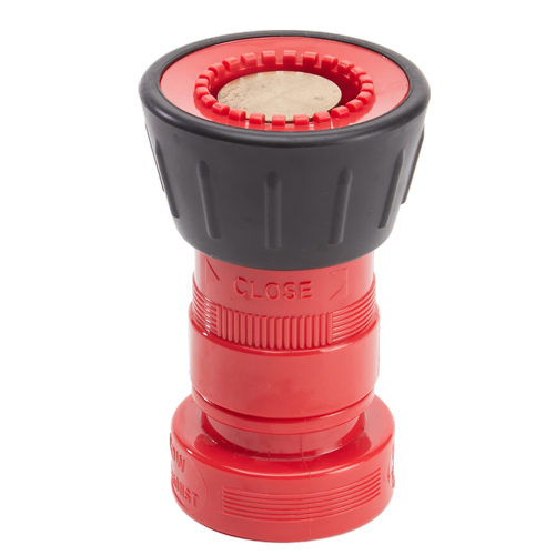 "Plastic 1 1/2"" Red Fire Nozzle With Bumper (NH)"