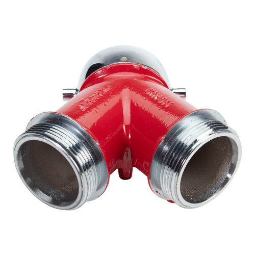 """Plain Wye 2 1/2"""" NH Inlet x (2) 2 1/2"""" NH Outlet"""