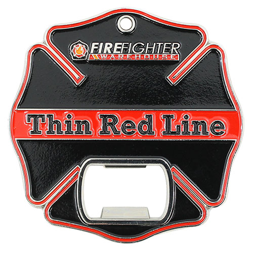 Thin Red Line Challenge Coin / Bottle Opener