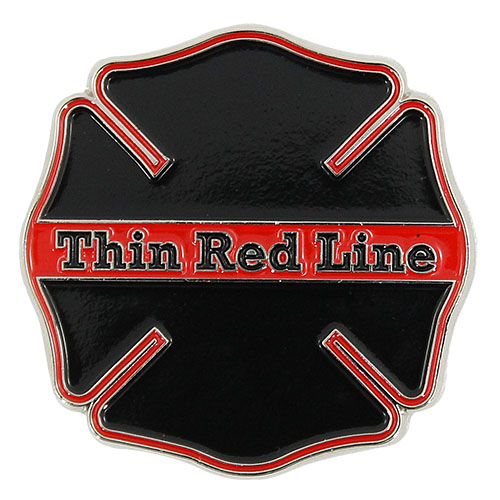 Thin Red Line Challenge Coin