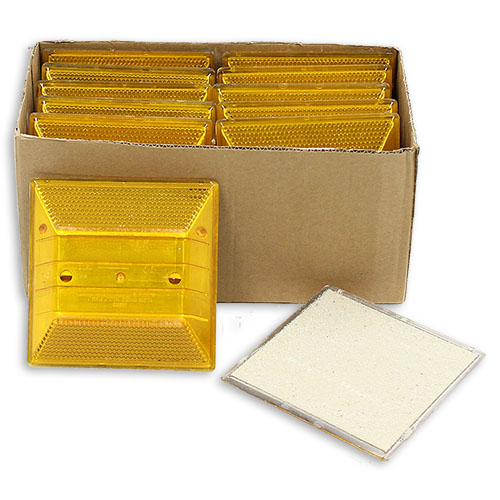Yellow Reflective Road Marker (10 Pack)