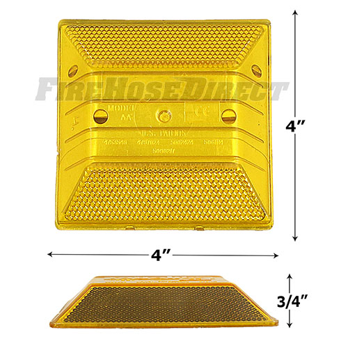Yellow Reflective Road Marker (10 Pack)  - RMAB-10