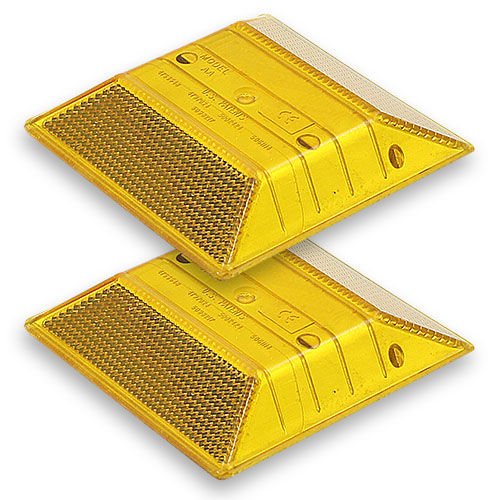 Yellow Reflective Road Marker (2 Pack)