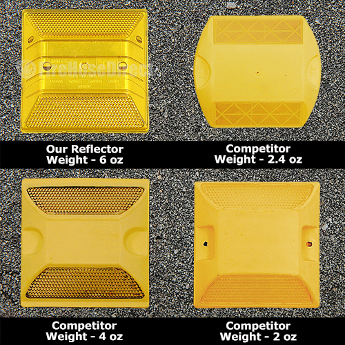Yellow Reflective Road Marker (2 Pack) - RMAB-2