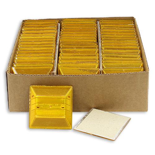 Yellow Reflective Road Marker (50 Pack) - RMAB-50