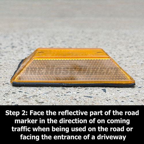 Peel-N-Stick Yellow Reflective Road Marker (50 Pack) - RMPAB-50
