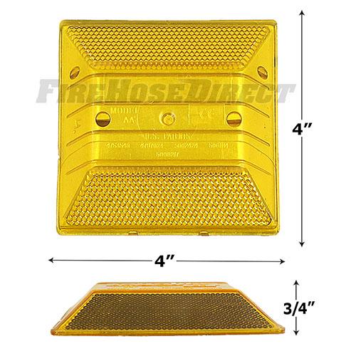 Peel-N-Stick Yellow Reflective Road Marker - RMPAB
