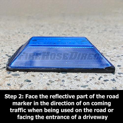 Peel-N-Stick Blue Reflective Road Marker (10 Pack) - RMPBL-10
