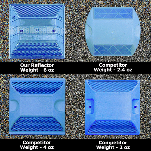 Peel-N-Stick Blue Reflective Road Marker (45 Pack) - RMPBL-45